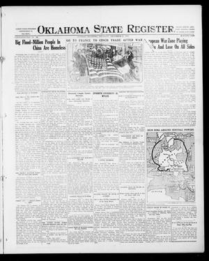 Primary view of object titled 'Oklahoma State Register. (Guthrie, Okla.), Vol. 26, No. 24, Ed. 1 Thursday, September 21, 1916'.