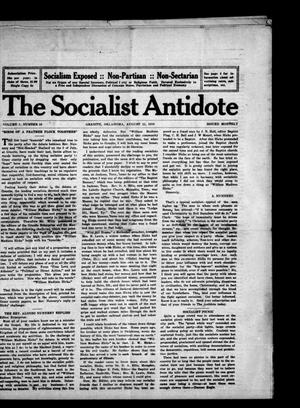 Primary view of object titled 'The Socialist Antidote (Granite, Okla.), Vol. 1, No. 10, Ed. 1 Tuesday, August 15, 1916'.