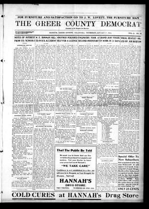 Primary view of object titled 'The Greer County Democrat (Mangum, Okla.), Vol. 26, No. 20, Ed. 1 Thursday, January 27, 1916'.