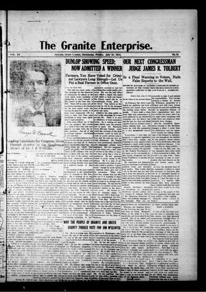 Primary view of object titled 'The Granite Enterprise. (Granite, Okla.), Vol. 15, No. 12, Ed. 1 Friday, July 31, 1914'.