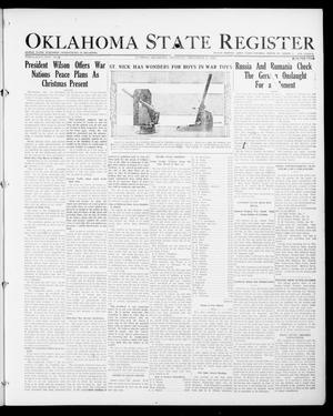 Primary view of object titled 'Oklahoma State Register (Guthrie, Okla.), Vol. 26, No. 34, Ed. 1 Thursday, December 21, 1916'.