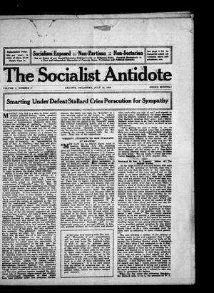 Primary view of object titled 'The Socialist Antidote (Granite, Okla.), Vol. 1, No. 9, Ed. 1 Saturday, July 15, 1916'.