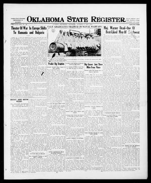 Primary view of object titled 'Oklahoma State Register. (Guthrie, Okla.), Vol. 26, No. 22, Ed. 1 Thursday, October 5, 1916'.