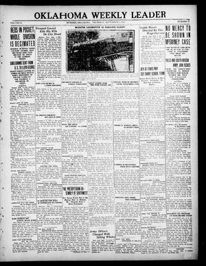 Primary view of object titled 'Oklahoma Weekly Leader (Guthrie, Okla.), Vol. 30, No. 27, Ed. 1 Thursday, September 2, 1920'.