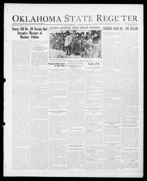 Primary view of object titled 'Oklahoma State Register (Guthrie, Okla.), Vol. 26, No. 40, Ed. 1 Thursday, February 1, 1917'.