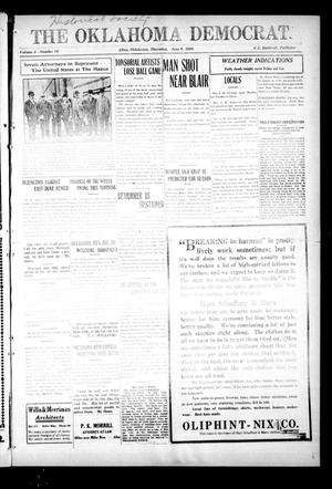 Primary view of object titled 'The Oklahoma Democrat. (Altus, Okla.), Vol. 4, No. 10, Ed. 1 Thursday, June 9, 1910'.