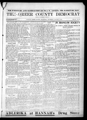 Primary view of object titled 'The Greer County Democrat (Mangum, Okla.), Vol. 24, No. 50, Ed. 1 Thursday, August 27, 1914'.