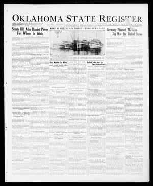 Primary view of object titled 'Oklahoma State Register (Guthrie, Okla.), Vol. 26, No. 44, Ed. 1 Thursday, March 1, 1917'.