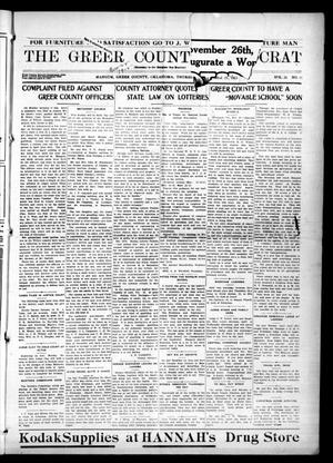 Primary view of object titled 'The Greer County Democrat (Mangum, Okla.), Vol. 26, No. 11, Ed. 1 Saturday, September 25, 1915'.