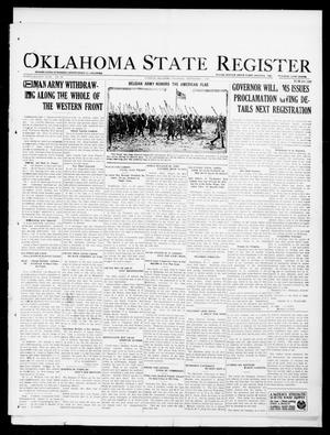 Primary view of object titled 'Oklahoma State Register (Guthrie, Okla.), Vol. 28, No. 20, Ed. 1 Thursday, September 5, 1918'.