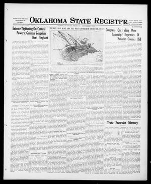 Primary view of object titled 'Oklahoma State Register. (Guthrie, Okla.), Vol. 26, No. 22, Ed. 1 Thursday, September 7, 1916'.