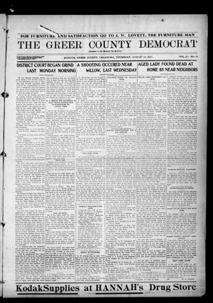 Primary view of object titled 'The Greer County Democrat (Mangum, Okla.), Vol. 25, No. 48, Ed. 1 Thursday, August 12, 1915'.