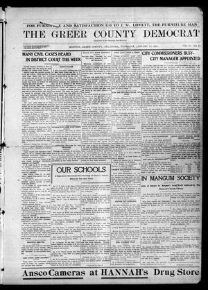 Primary view of The Greer County Democrat (Mangum, Okla.), Vol. 25, No. 18, Ed. 1 Thursday, January 14, 1915