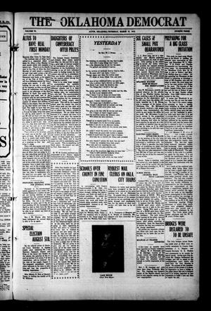 Primary view of The Oklahoma Democrat (Altus, Okla.), Vol. 6, No. 3, Ed. 1 Thursday, March 27, 1913