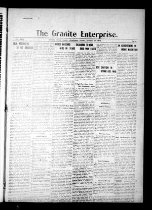 Primary view of object titled 'The Granite Enterprise. (Granite, Okla.), Vol. 18, No. 36, Ed. 1 Friday, January 11, 1918'.