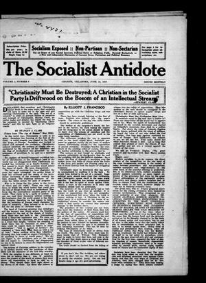 Primary view of object titled 'The Socialist Antidote (Granite, Okla.), Vol. 1, No. 8, Ed. 1 Thursday, June 15, 1916'.