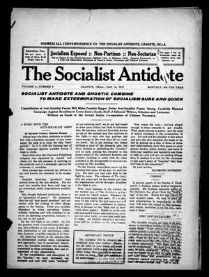 Primary view of object titled 'The Socialist Antidote (Granite, Okla.), Vol. 2, No. 9, Ed. 1 Monday, January 15, 1917'.