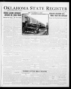 Primary view of object titled 'Oklahoma State Register (Guthrie, Okla.), Vol. 28, No. 13, Ed. 1 Thursday, July 11, 1918'.