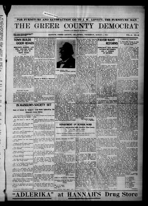 Primary view of object titled 'The Greer County Democrat (Mangum, Okla.), Vol. 24, No. 25, Ed. 1 Thursday, March 5, 1914'.