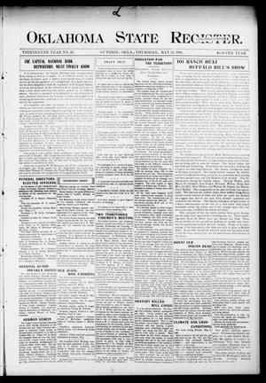 Primary view of object titled 'Oklahoma State Register. (Guthrie, Okla.), Vol. 13, No. 22, Ed. 1 Thursday, May 12, 1904'.