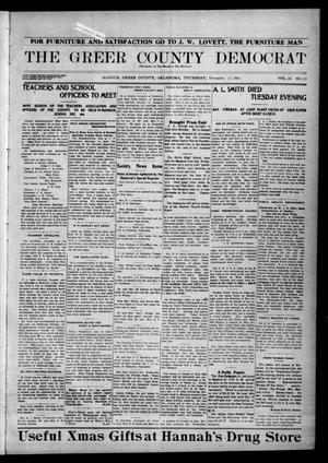 Primary view of object titled 'The Greer County Democrat (Mangum, Okla.), Vol. 24, No. 11, Ed. 1 Thursday, November 27, 1913'.