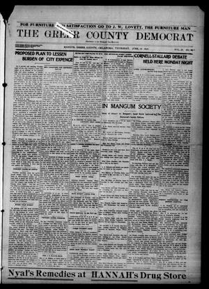 Primary view of object titled 'The Greer County Democrat (Mangum, Okla.), Vol. 24, No. 40, Ed. 1 Thursday, June 18, 1914'.