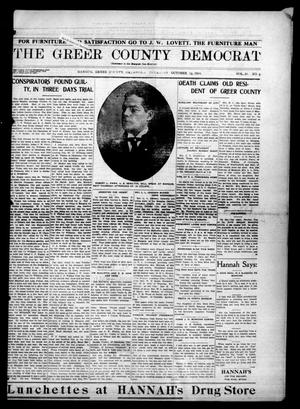 Primary view of object titled 'The Greer County Democrat (Mangum, Okla.), Vol. 25, No. 5, Ed. 1 Thursday, October 15, 1914'.