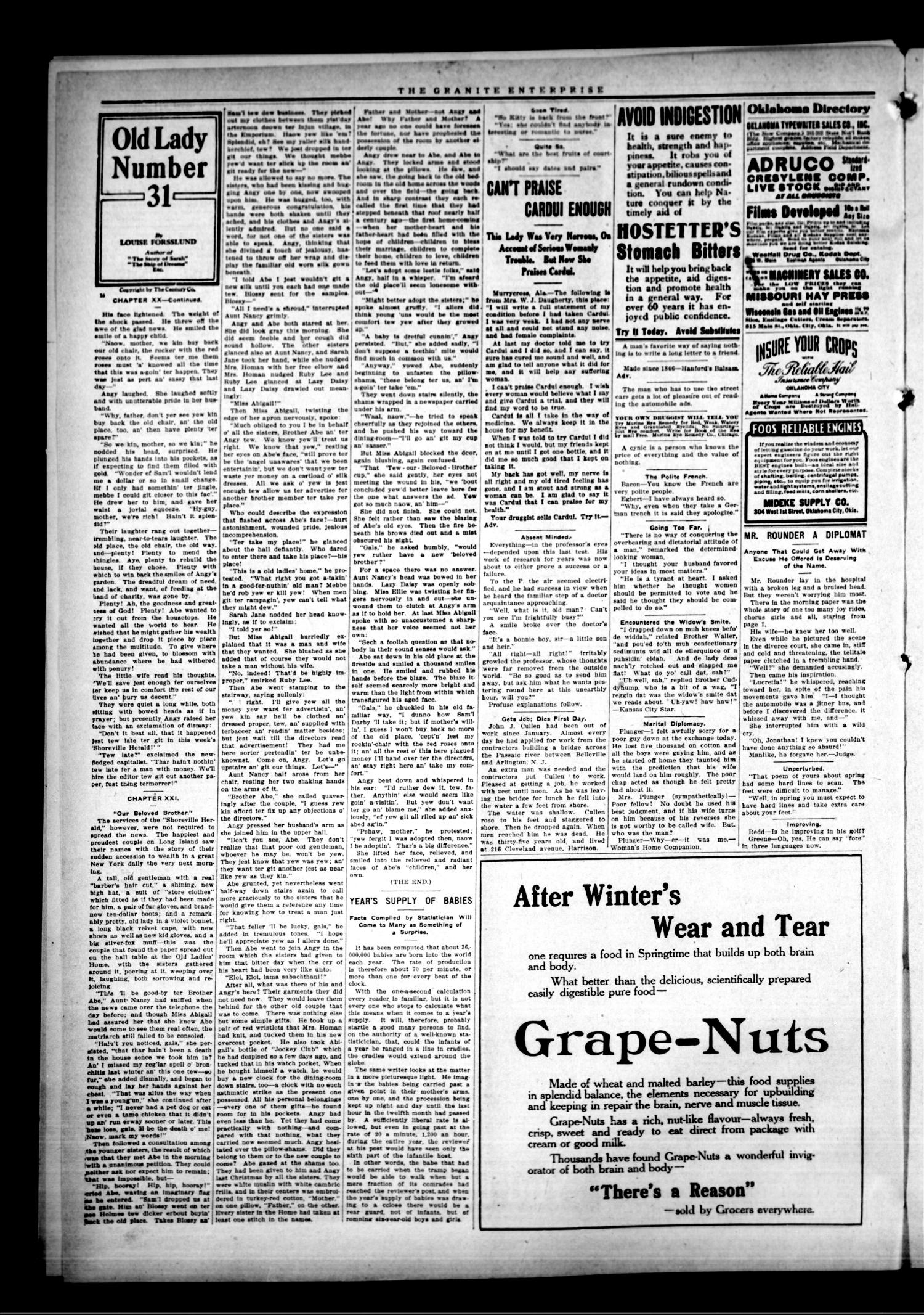 The Granite Enterprise. (Granite, Okla.), Vol. 15, No. 49, Ed. 1 Friday, April 16, 1915                                                                                                      [Sequence #]: 2 of 8