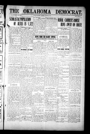 Primary view of object titled 'The Oklahoma Democrat. (Altus, Okla.), Vol. 4, No. 45, Ed. 1 Thursday, January 26, 1911'.