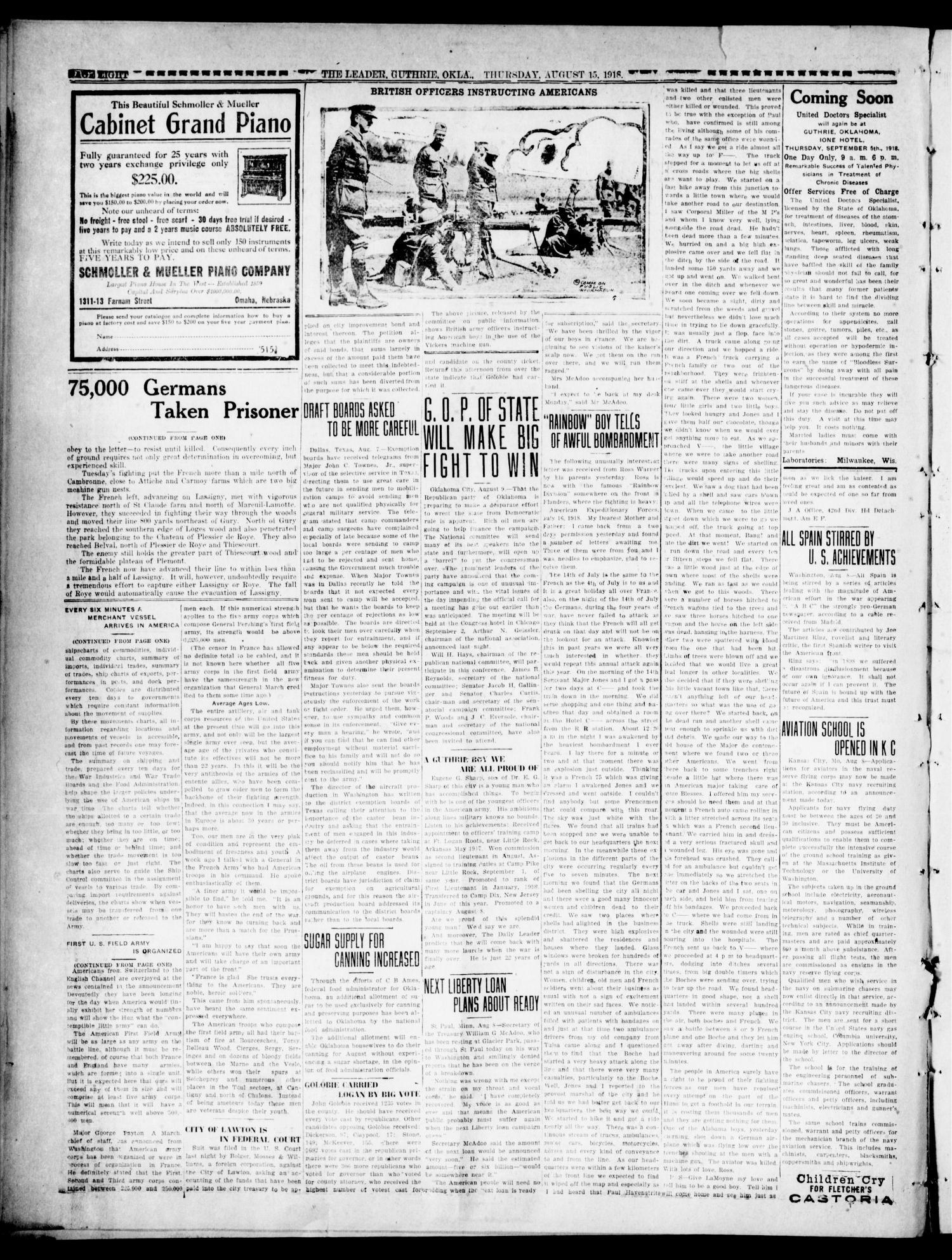 The Oklahoma Leader (Guthrie, Okla ), Vol  28, No  31, Ed  1