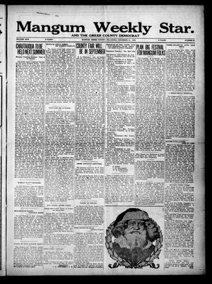 Primary view of object titled 'Mangum Weekly Star. and The Greer County Democrat (Mangum, Okla.), Vol. 29, No. 27, Ed. 1 Thursday, December 21, 1916'.