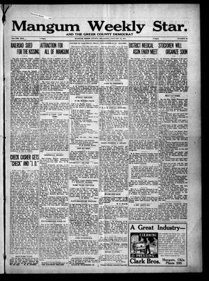 Primary view of object titled 'Mangum Weekly Star. and The Greer County Democrat (Mangum, Okla.), Vol. 29, No. 30, Ed. 1 Thursday, January 11, 1917'.