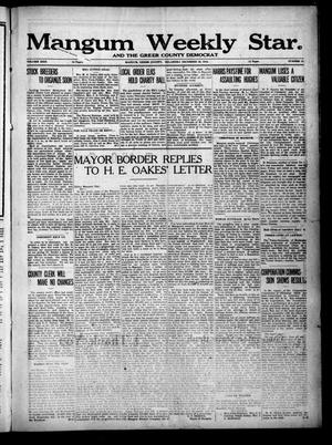 Primary view of object titled 'Mangum Weekly Star. and The Greer County Democrat (Mangum, Okla.), Vol. 29, No. 28, Ed. 1 Thursday, December 28, 1916'.