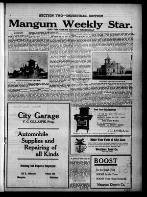 Primary view of object titled 'Mangum Weekly Star. and The Greer County Democrat (Mangum, Okla.), Vol. 29, No. 23, Ed. 2 Thursday, November 23, 1916'.