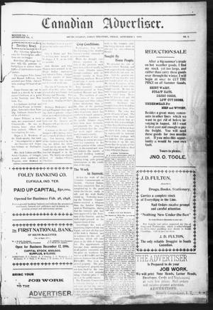 Primary view of object titled 'Canadian Advertiser. (South Canadian, Indian Terr.), Vol. 2, No. 2, Ed. 1 Friday, September 8, 1899'.