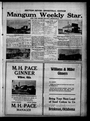 Primary view of object titled 'Mangum Weekly Star. and The Greer County Democrat (Mangum, Okla.), Vol. 29, No. 33, Ed. 7 Thursday, November 23, 1916'.