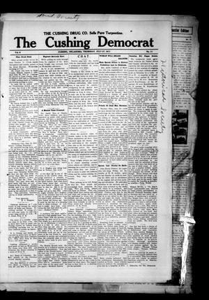 Primary view of object titled 'The Cushing Democrat (Cushing, Okla.), Vol. 6, No. 11, Ed. 1 Thursday, July 27, 1911'.