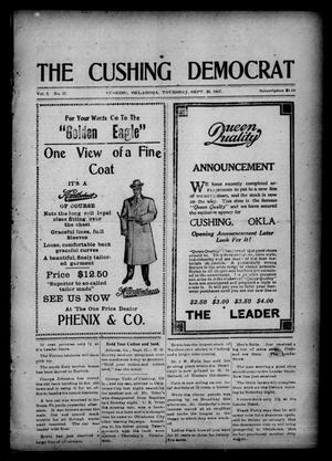 Primary view of object titled 'The Cushing Democrat (Cushing, Okla.), Vol. 2, No. 21, Ed. 1 Thursday, September 26, 1907'.