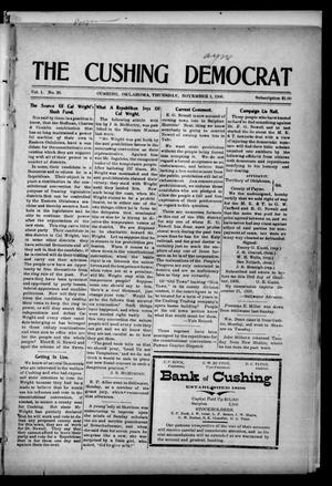 Primary view of object titled 'The Cushing Democrat (Cushing, Okla.), Vol. 1, No. 26, Ed. 1 Thursday, November 1, 1906'.