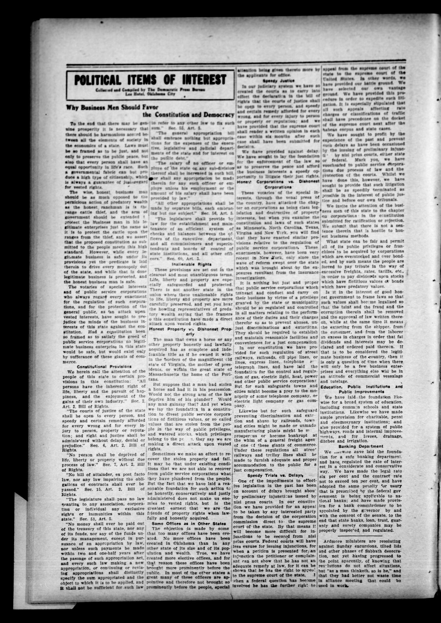 The Cushing Democrat (Cushing, Okla.), Vol. 2, No. 16, Ed. 1 Thursday, August 22, 1907                                                                                                      [Sequence #]: 4 of 12