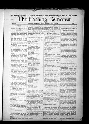 Primary view of object titled 'The Cushing Democrat. (Cushing, Okla.), Vol. 3, No. 8, Ed. 1 Thursday, July 2, 1908'.