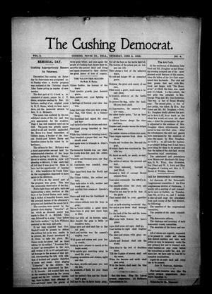 Primary view of object titled 'The Cushing Democrat. (Cushing, Okla.), Vol. 3, No. 4, Ed. 1 Thursday, June 4, 1908'.