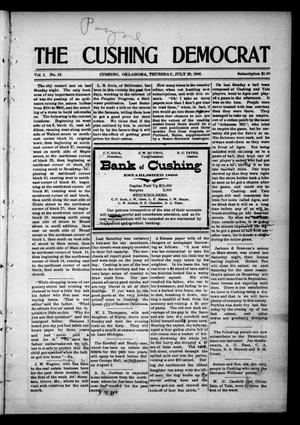 Primary view of object titled 'The Cushing Democrat (Cushing, Okla.), Vol. 1, No. 12, Ed. 1 Thursday, July 26, 1906'.