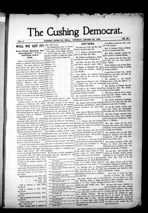 Primary view of object titled 'The Cushing Democrat. (Cushing, Okla.), Vol. 2, No. 38, Ed. 1 Thursday, January 30, 1908'.