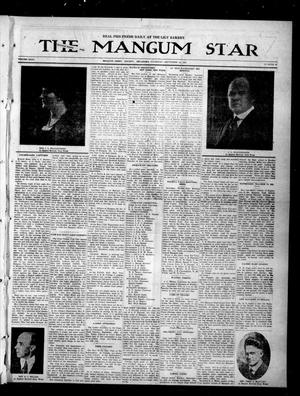 Primary view of object titled 'The Mangum Star (Mangum, Okla.), Vol. 35, No. 14, Ed. 1 Thursday, September 14, 1922'.