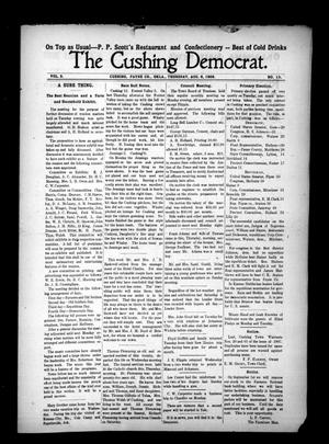 Primary view of object titled 'The Cushing Democrat. (Cushing, Okla.), Vol. 3, No. 13, Ed. 1 Thursday, August 6, 1908'.