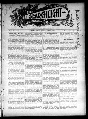 Primary view of object titled 'The Searchlight (Guthrie, Okla.), No. 404, Ed. 1 Friday, July 13, 1906'.