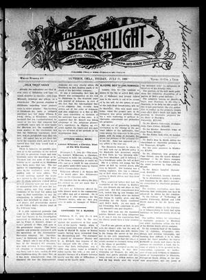 Primary view of object titled 'The Searchlight (Guthrie, Okla.), No. 408, Ed. 1 Friday, July 27, 1906'.