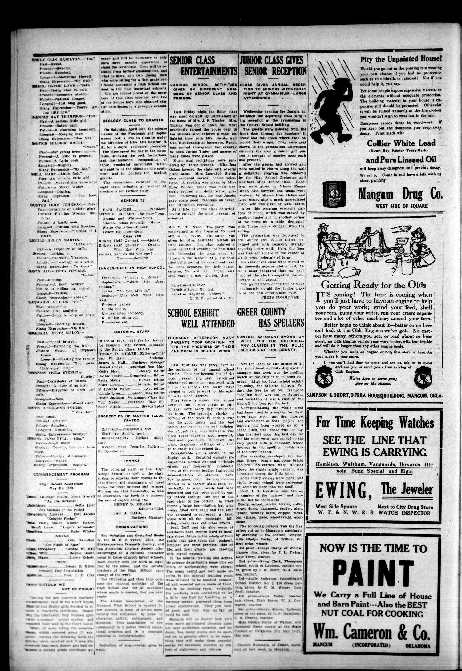 Mangum Weekly Star Mangum Okla Vol 25 No 46 Ed 1
