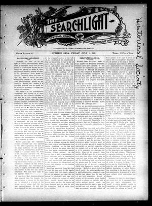 Primary view of object titled 'The Searchlight (Guthrie, Okla.), No. 402, Ed. 1 Friday, July 6, 1906'.